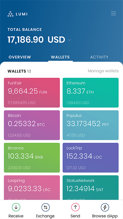 Keep FUN token in Lumi Wallet
