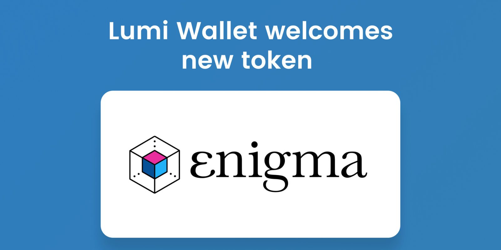 store ENG token in Lumi Wallet