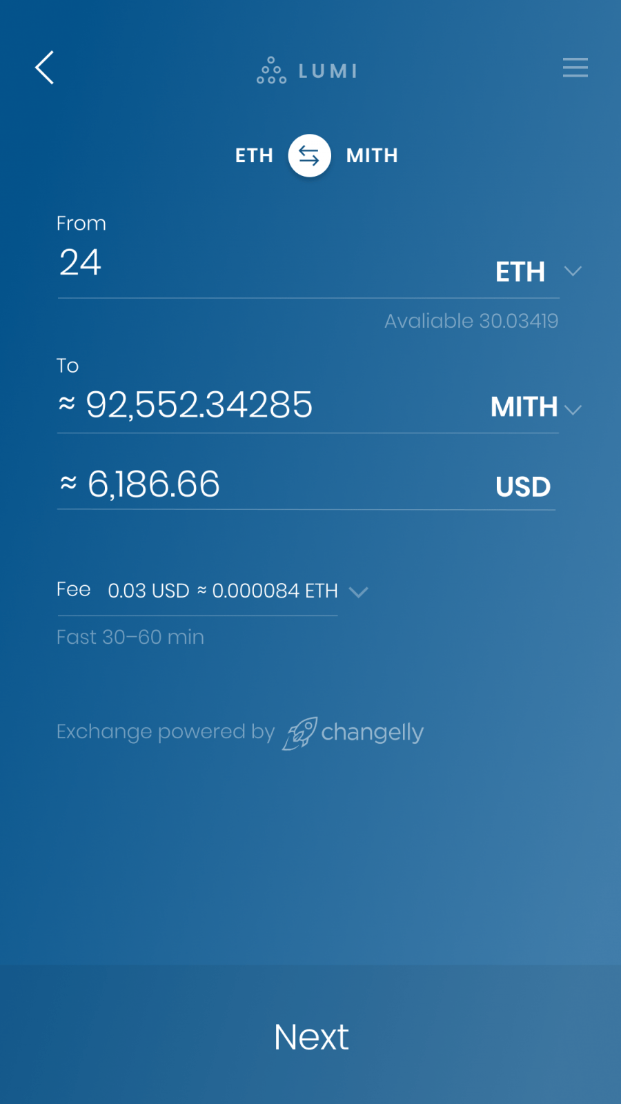 how to buy mithril coin in lumi wallet
