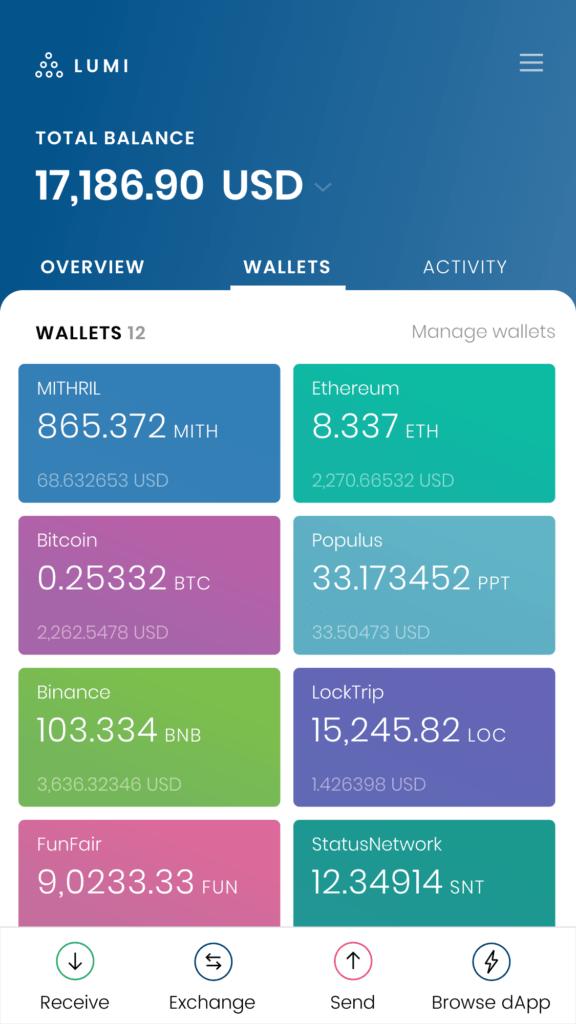 mith wallet in lumi wallet