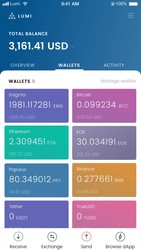 create enigma token wallet