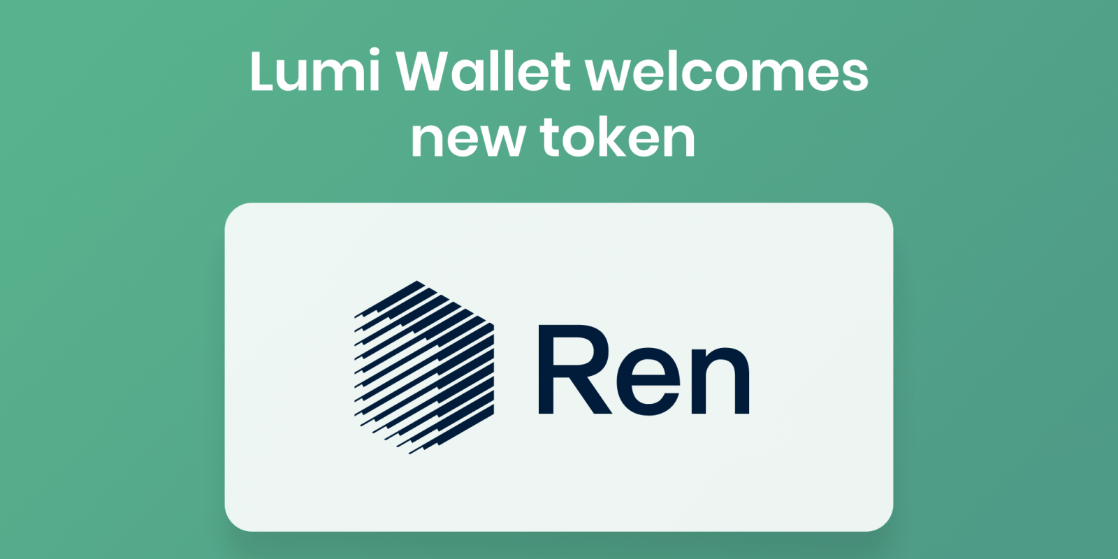 ren crypto and lumi wallet