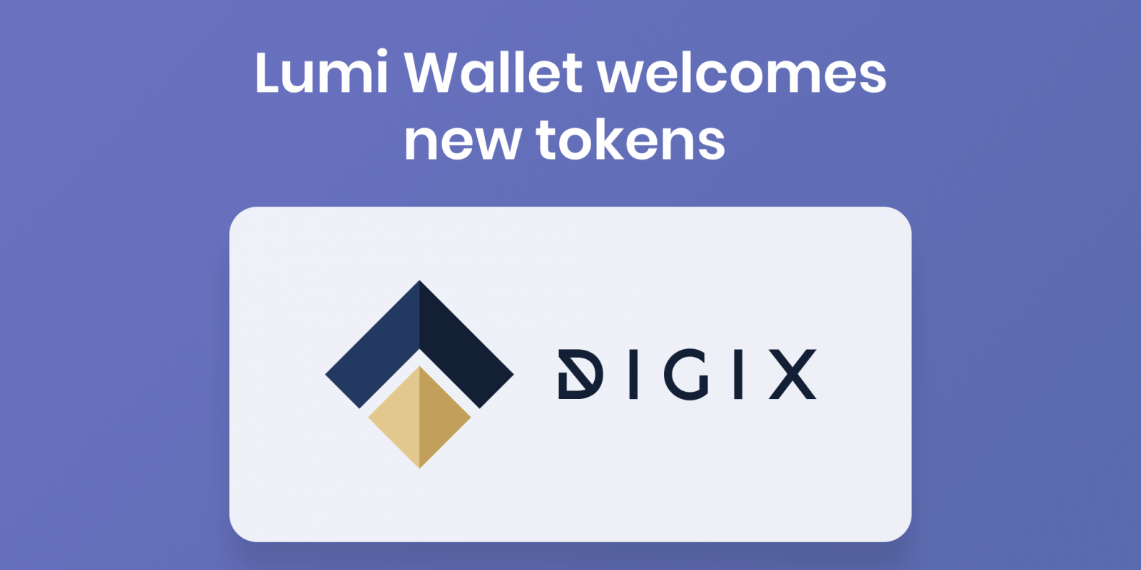 dgd token and dgx token in lumi wallet