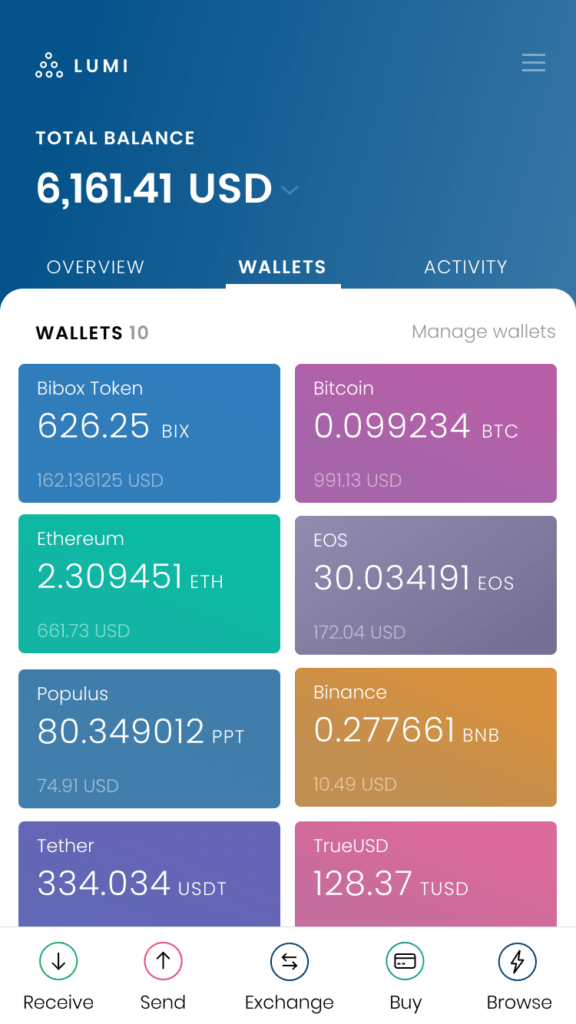 bix token wallet