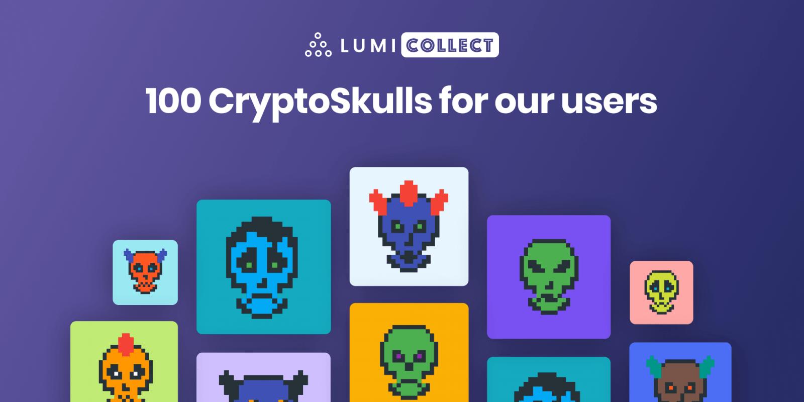 CryptoSkulls crypto art in Lumi Collect