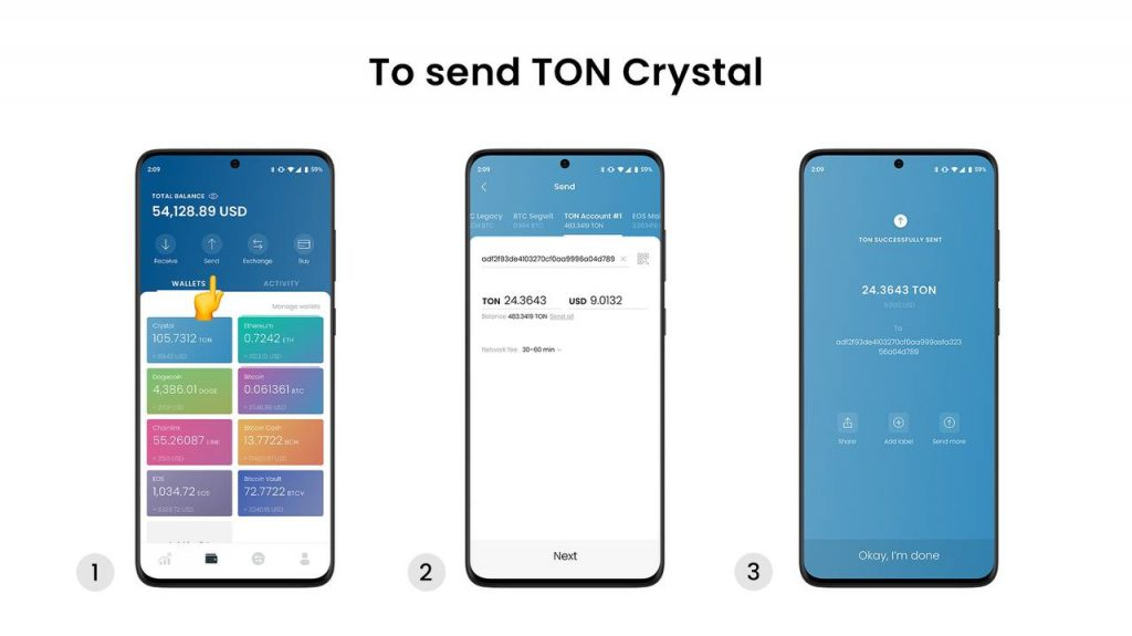 Free TON is available in the LUMI for Android